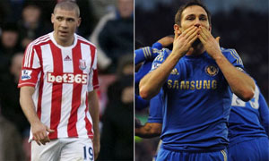 Jonathan Walters and Frank Lampard